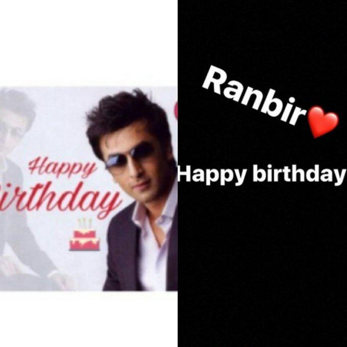 Wish you a very very happy birthday Ranbir kapoor..may god bless you