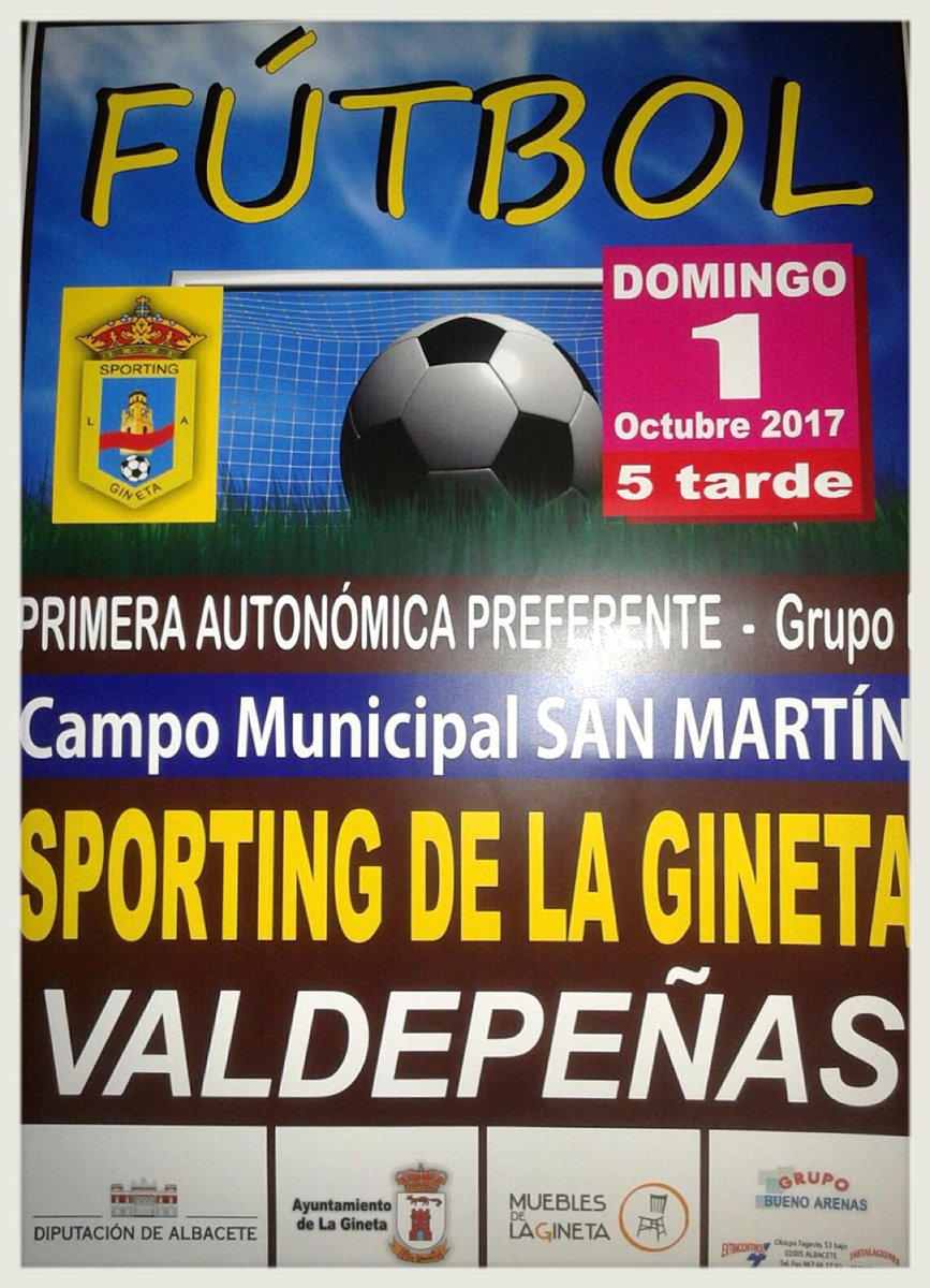 Sporting La Gineta On Twitter El Domingo 1 De Oct Vamos A Por  # Muebles Gineta Albacete