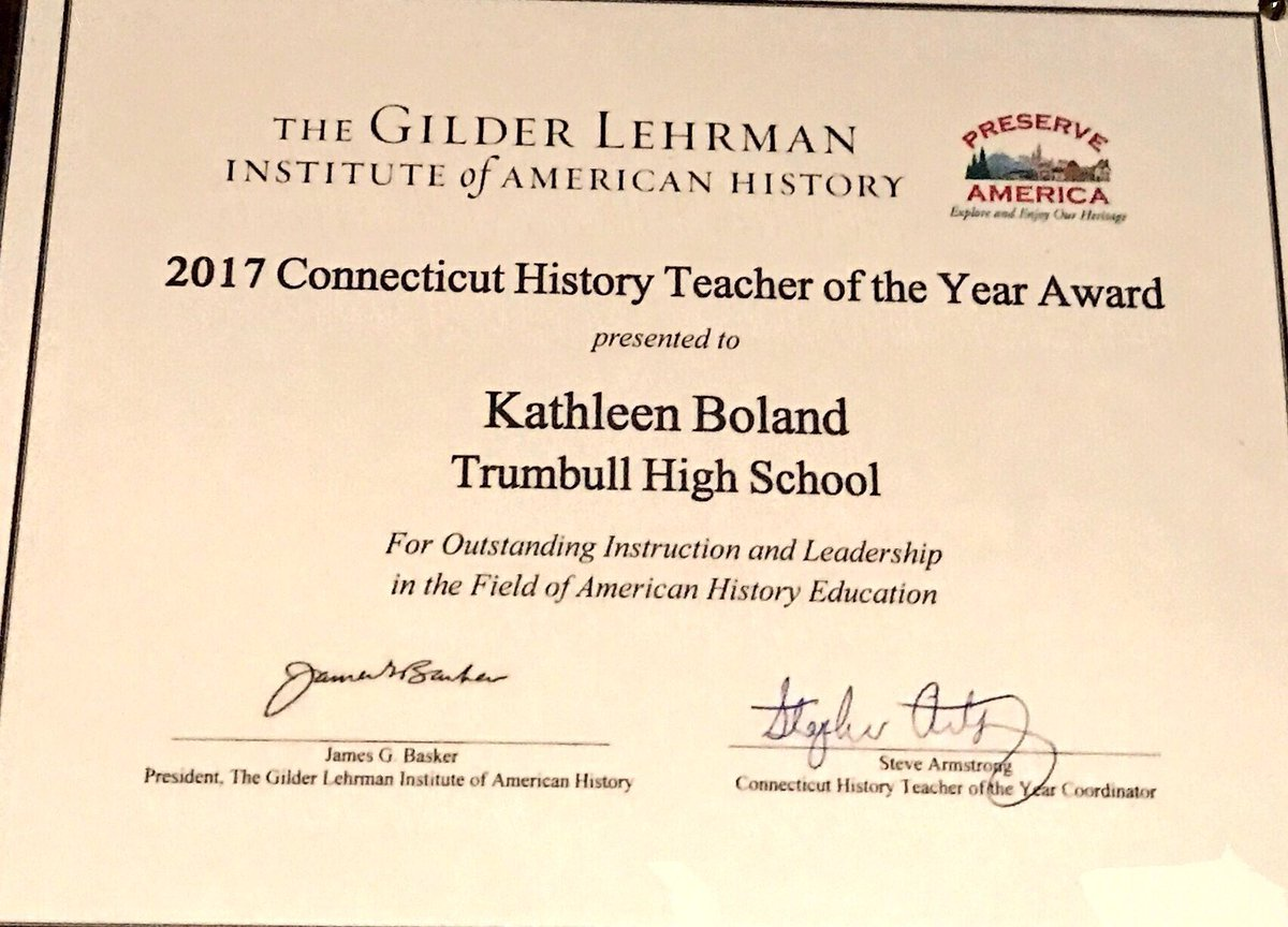 Trumbull Ace On Twitter Ms Boland Receiving Her Connecticut