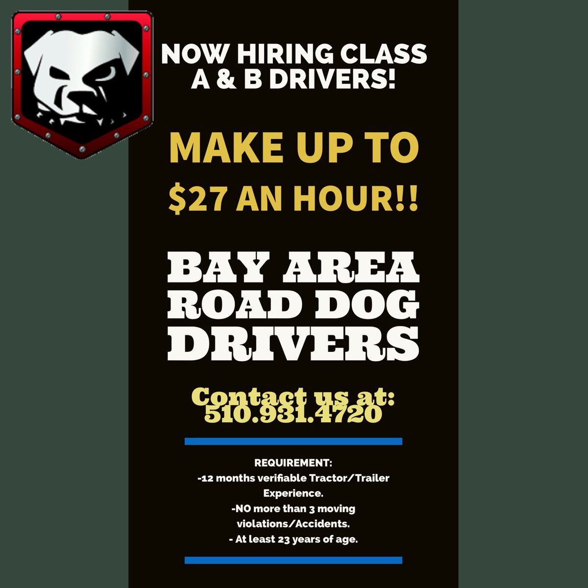 road dog drivers phone number