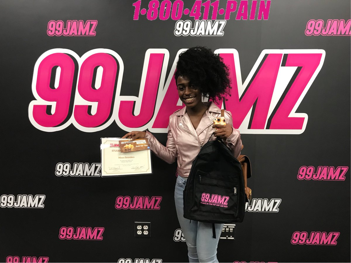 99JAMZ On Twitter Maya Saunders Is Our 411 Pain Student Of The Week She Attends Miramar High School With A GPA 47You Go Girl