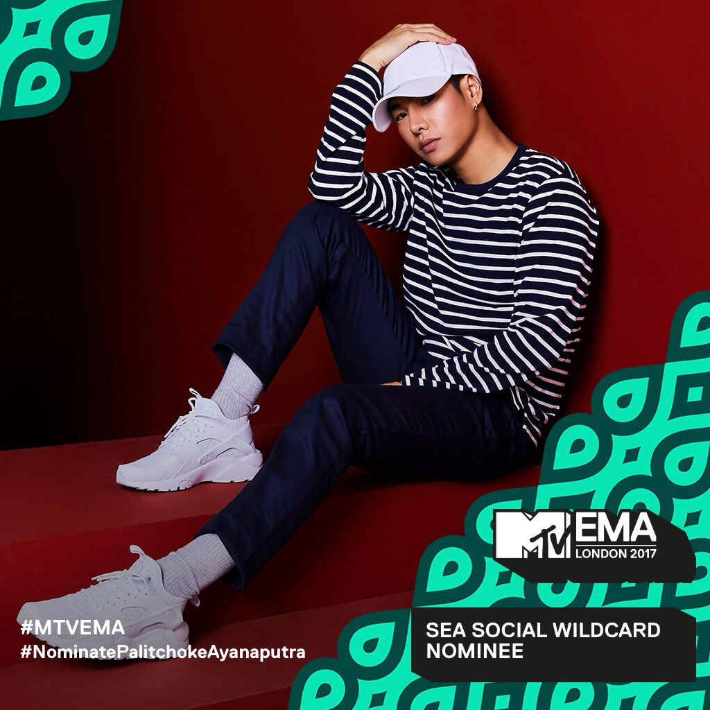 If you think @peckpalit should be your @mtvema Southeast Asia Social Wildcard Nominee then tweet #NominatePalitchokeAyanaputra #MTVEMA now!👏