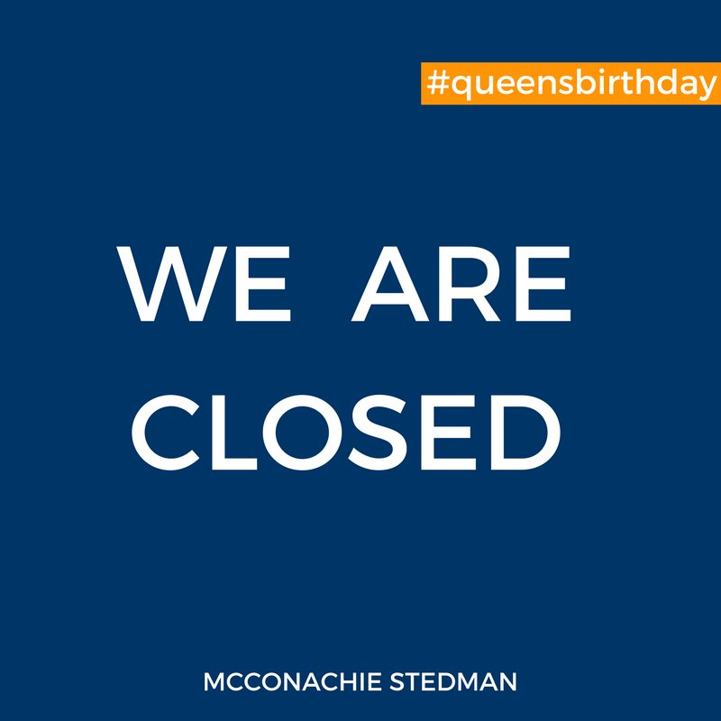 Just a friendly reminder that we are closed for the #Queensbirthday holiday. Wishing everyone a safe and enjoyable day.  #toowoomba<br>http://pic.twitter.com/TI053LMEOQ