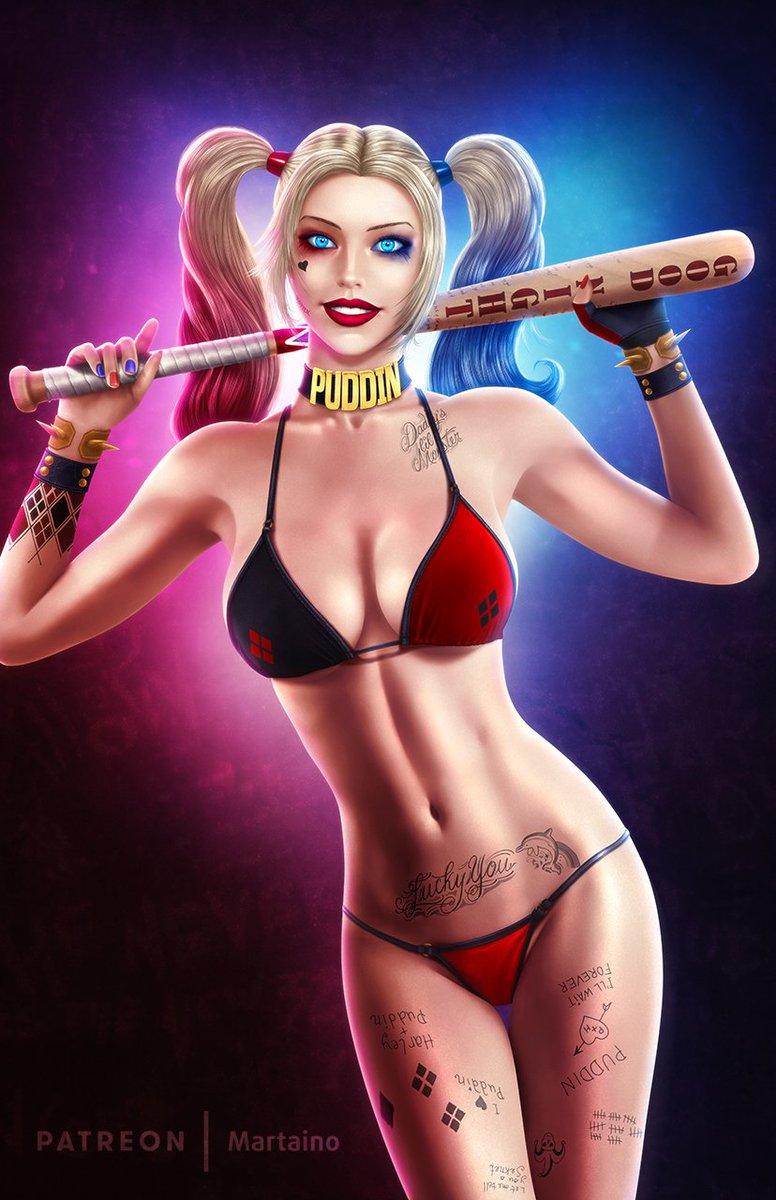 Harley Quinn Bikini Art