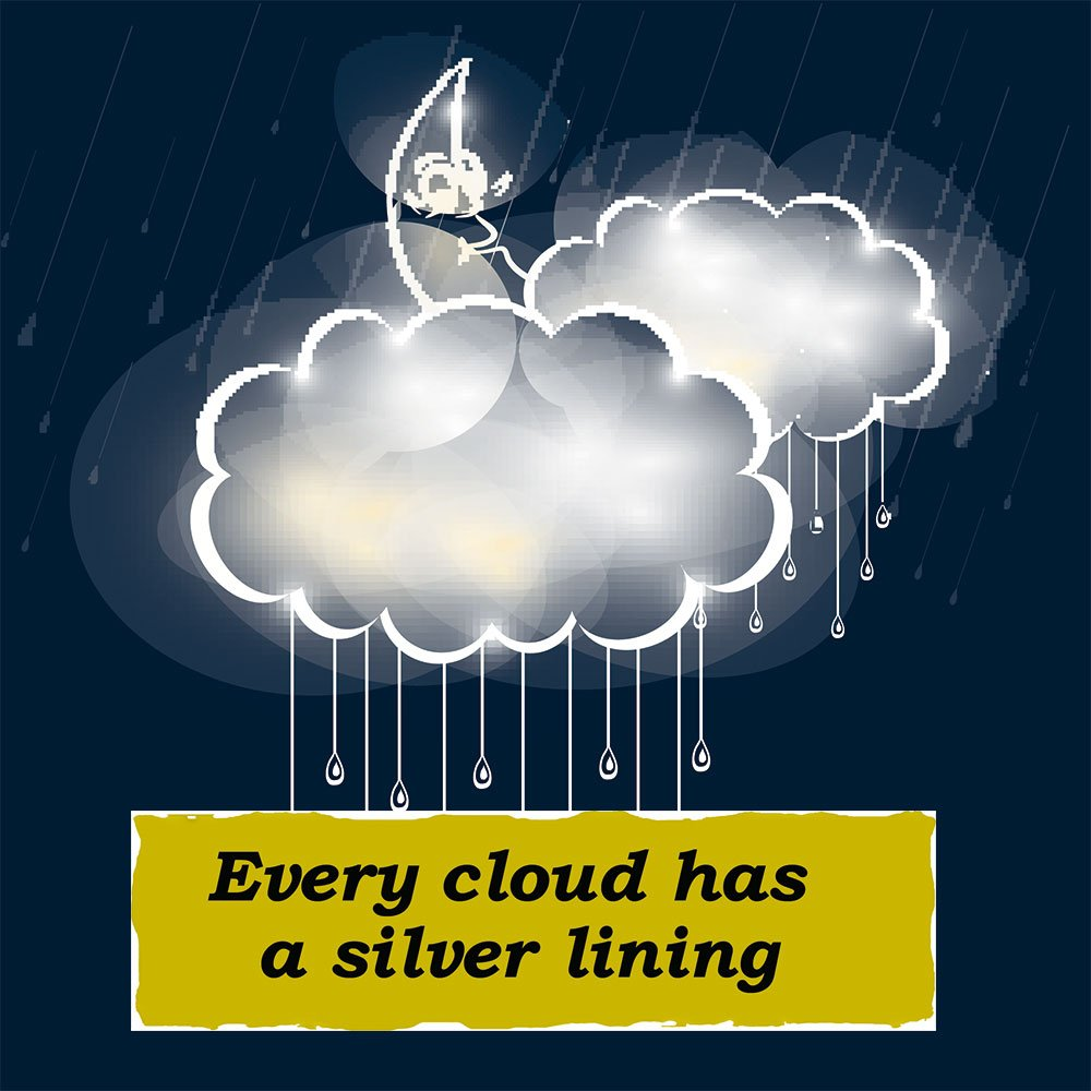 &quot;Every cloud has a silver lining&quot; un #English #idiom spiegato in italiano   http:// blog.speakuponline.it/?p=4462  &nbsp;   #learnenglish #englishidioms <br>http://pic.twitter.com/Fl4UYG3gGa