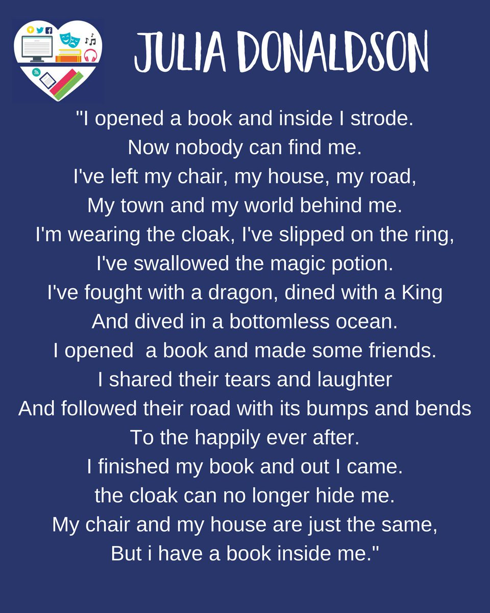 """Hampshire Libraries on Twitter: """"Here is one of our favourite poems by Julia  Donaldson for #NationalPoetryDay… """""""