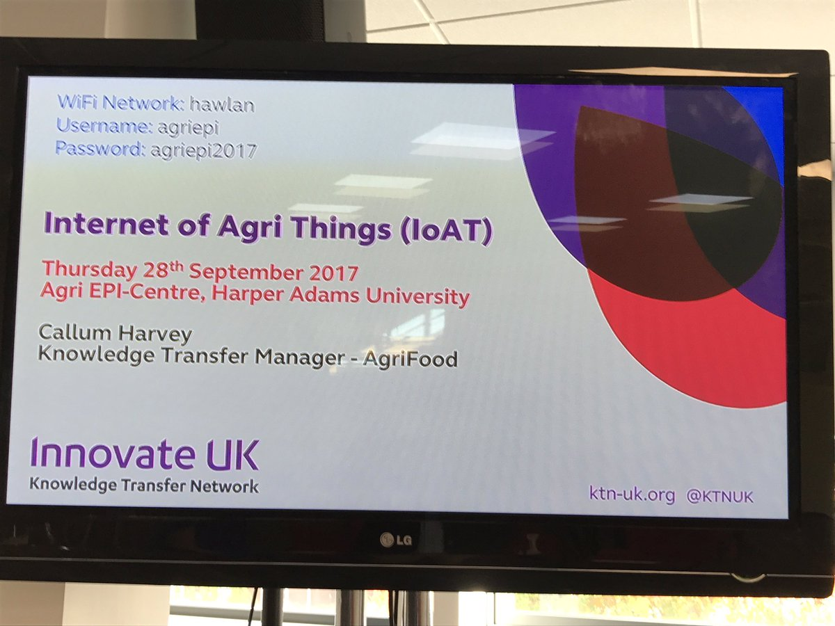 #AgriIoT workshop session is go in the the fantastic new Agri EPI Building at Harper Adams in Telford #digital #innovation<br>http://pic.twitter.com/70quYOMbJz