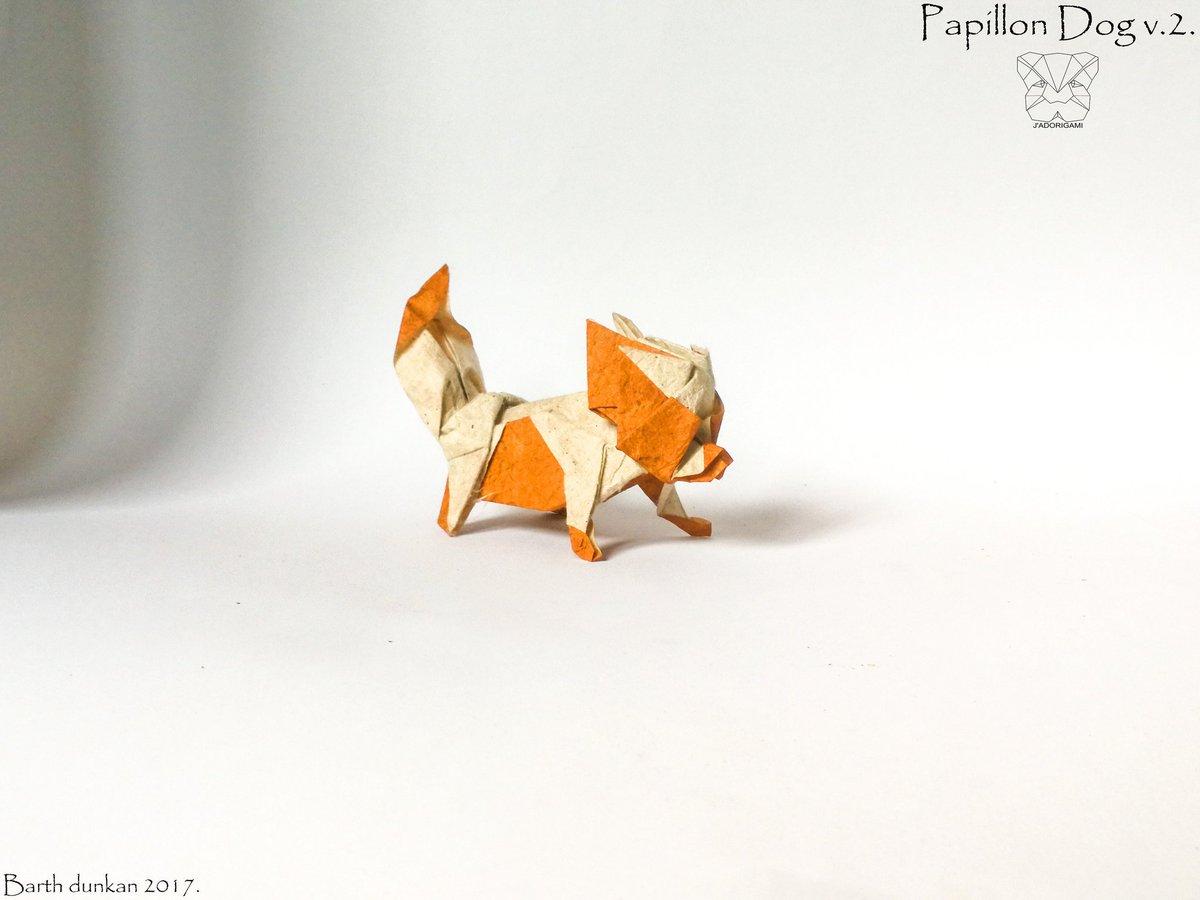 Barth Dunkan On Twitter Origami Papillon V2 Anjing Barthdunkan