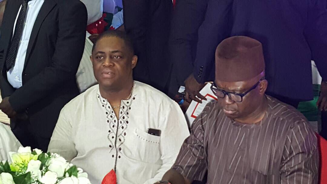 """Femi Fani Kayode said he """"stood with Governor Fayose because, unlike most, he has immense courage, says he has done an excellent job in Ekiti State."""