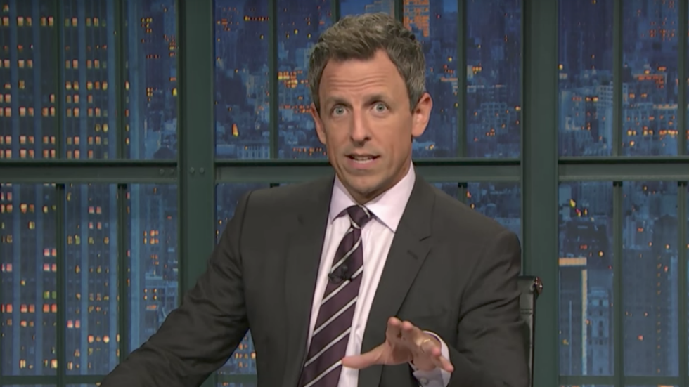 Seth Meyers gives viewers Eminem's ultimatum: Pick me or pick Trump https://t.co/WIGmPCOZei https://t.co/HBdITQU5b7