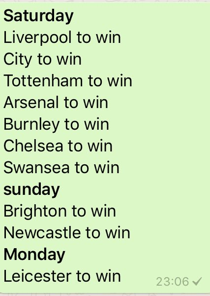 Back again !! Premier league Week 8 predictions. Good luck #PremierLeague #tips #bettingtips #football #sports #EPL #FIFA #soccer<br>http://pic.twitter.com/XKA8hkr2e5
