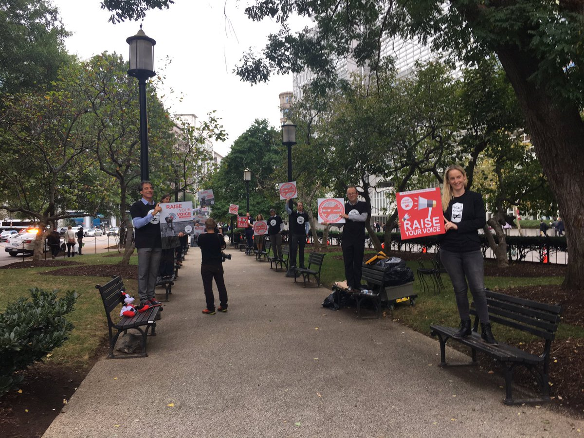 Activists rallied today at #IMF #WorldBank headquarters in Washington DC to say #StopFuellingInequality!  We must #FightInequality! <br>http://pic.twitter.com/55sQIIDCG9