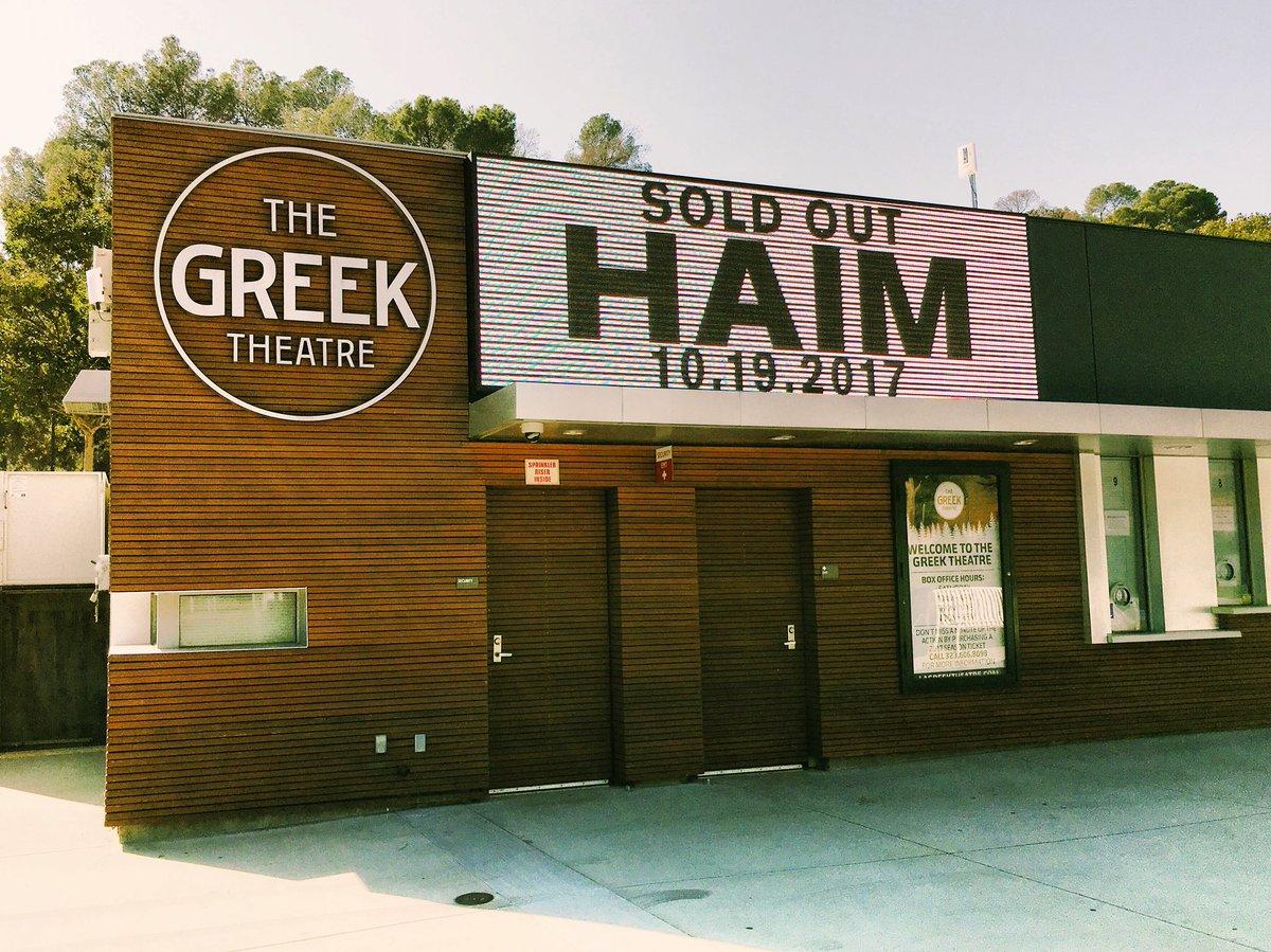 @haim = 7 Days Away! #soldout #haim <br>http://pic.twitter.com/PGGkTaZTAu &ndash; à The Greek Theatre
