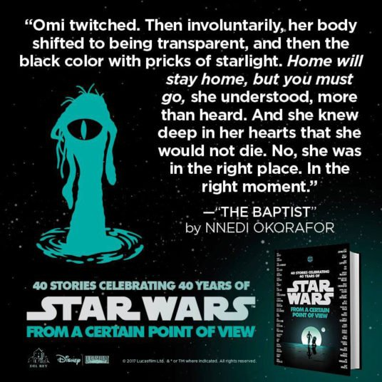 Author @Nnedi talks writing from the dianoga's point of view. #StarWarsReads https://t.co/4QCbLMOL9q https://t.co/FLhBbRHu7Y