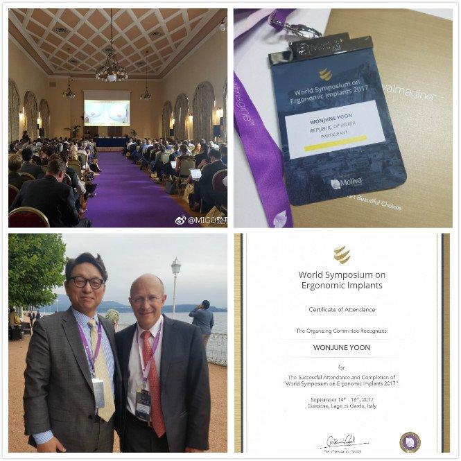 Dr. Yoon was invited to World Symposium on Ergonomic Implant in Italy. #plasticsurgerykorea #migoplasticsurgery #Motiva #breastaugmentation<br>http://pic.twitter.com/nN1JvE2U9n