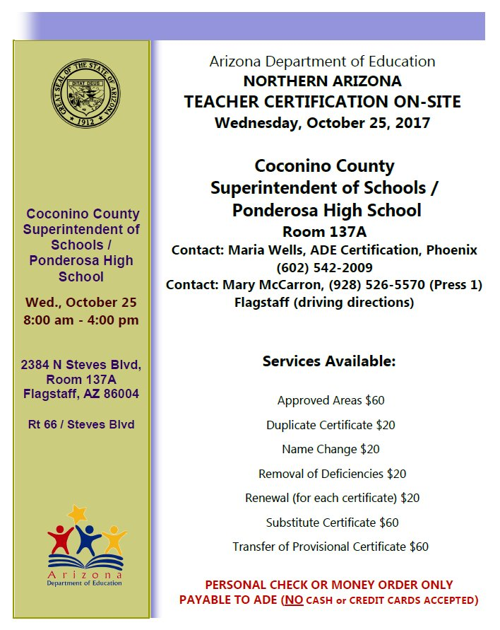 Az Department Of Ed On Twitter Certification Unit Representatives