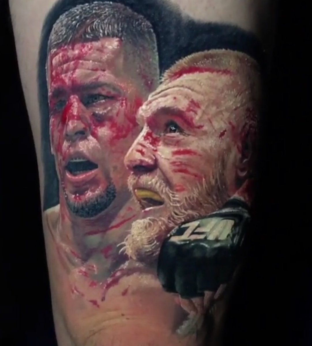 Darren Rovell On Twitter Nate Diaz Conor Mcgregor Tattoo