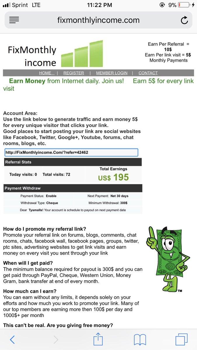 Fixmonthlyincome com scam