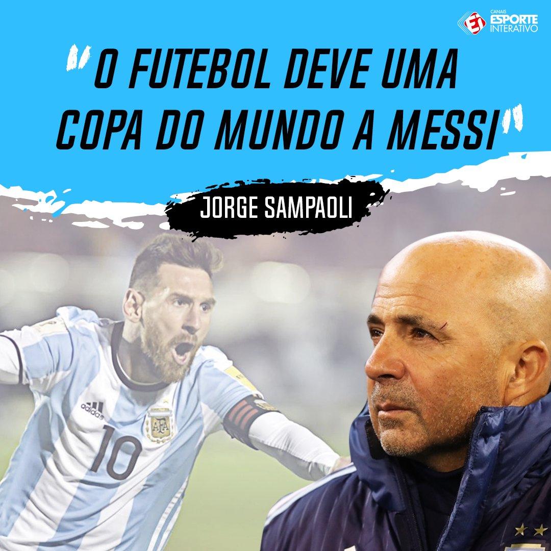 Jorge Sampaoli foi 'curto e grosso' após a classificação da Argentina com show de Lionel Messi!