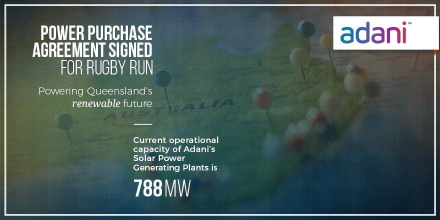Adani Australia Twitter Power Purchase Agreement Signed Were