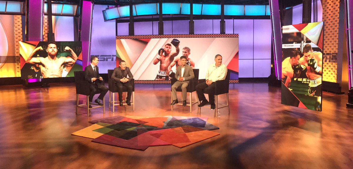 Up next @osunaespn @Jcchavez115 @mikeygarcia #AbelSanchez chatting #Canelo #GGG on #NacionESPN on #ESPN2 #ESPNDeportes<br>http://pic.twitter.com/6RucPC2hLQ