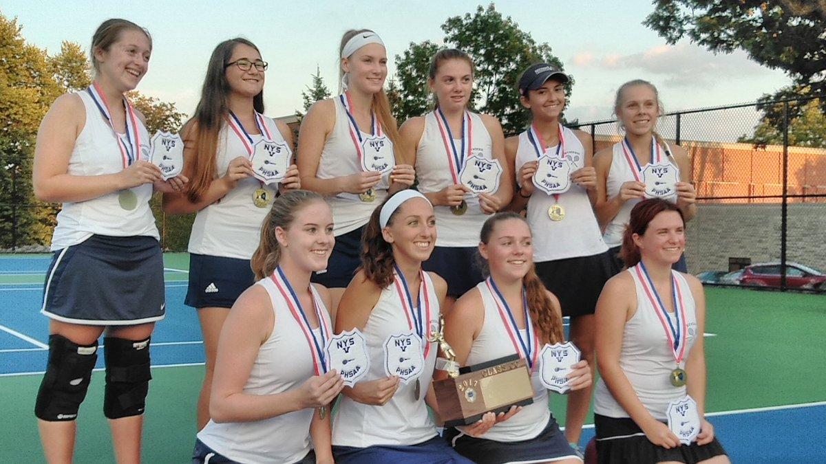 DYNASTY: Mynderse girls tennis captures 3rd straight Section V championship