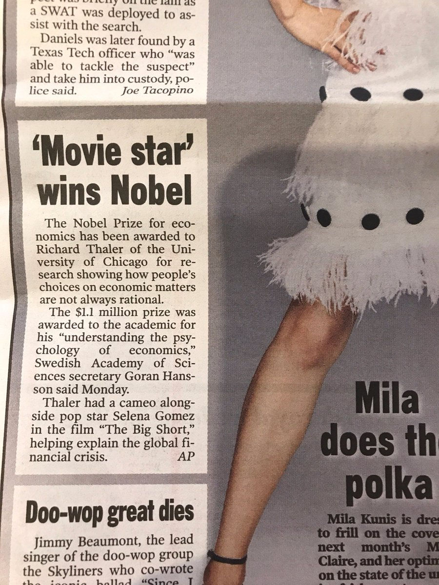 Interesting headline in the @nypost. cc @GhostPanther @adamdavidson and @selenagomez https://t.co/d5vq5s8wm8