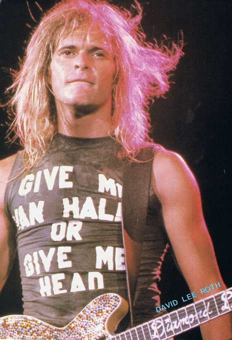 Happy birthday too one of rocks best showmen, David Lee Roth