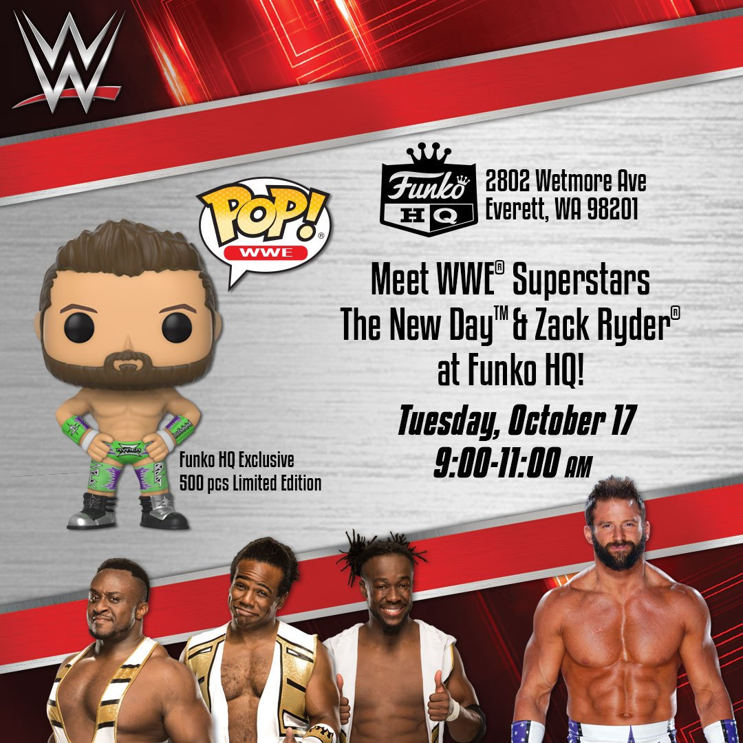 Funko on twitter meet wwe superstars the new day zack ryder at 602 pm 10 oct 2017 m4hsunfo