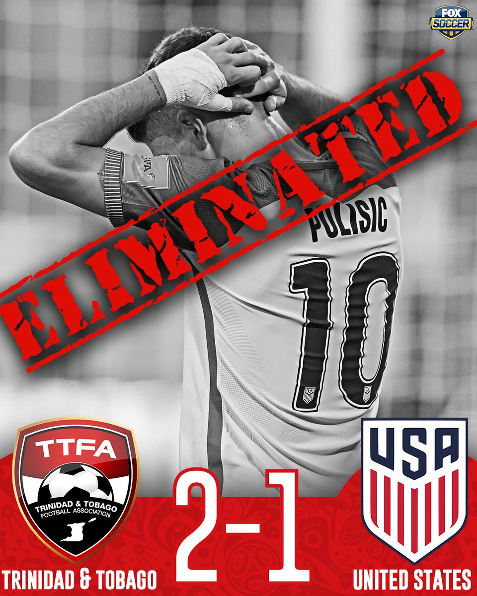 The unthinkable has happened.  The USMNT misses their first World Cup since 1986.