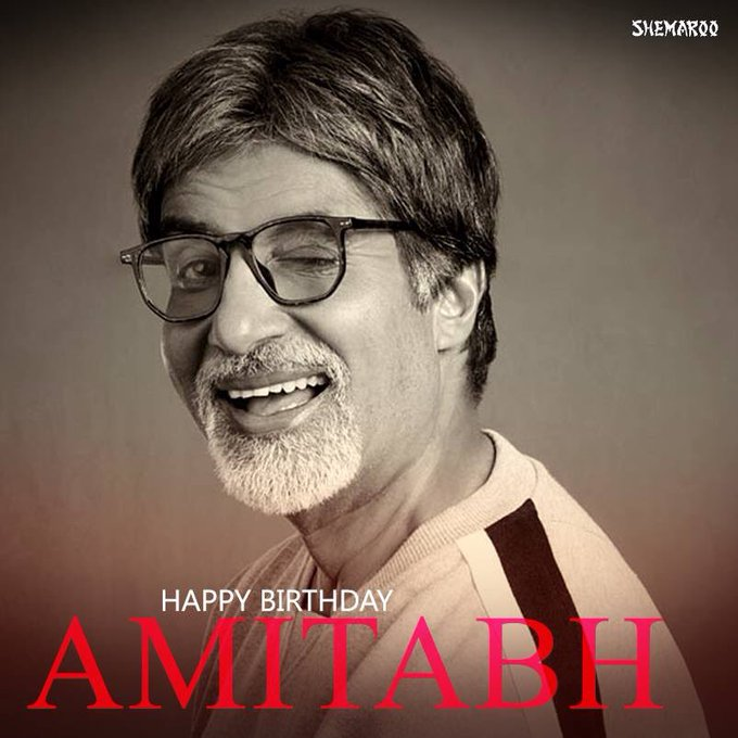Happy Birthday sir @ Amitabh Bachchan
