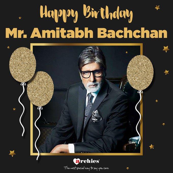 Today is Shahenshah\s Birthday... Happy Birthday, Mr. Amitabh Bachchan