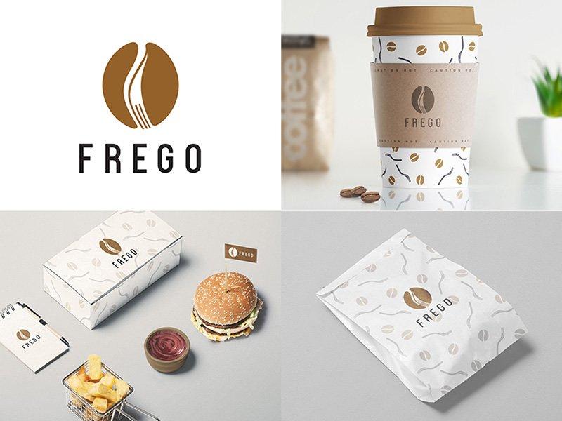 FREGO: Logo and brand identity for a restaurant &amp; cafe. Full project  https:// lnkd.in/fEtgAV3  &nbsp;   #restaurant cafe #coffee #bean #fork #colombo<br>http://pic.twitter.com/r12vXZXMgU