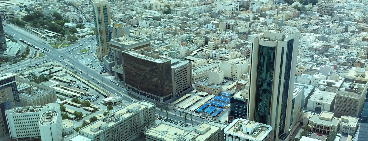 """منظر بانورامي من أعلى مبنى """"الهداية بلازا"""" أحد المشاريع الوقفية الحديثة"""