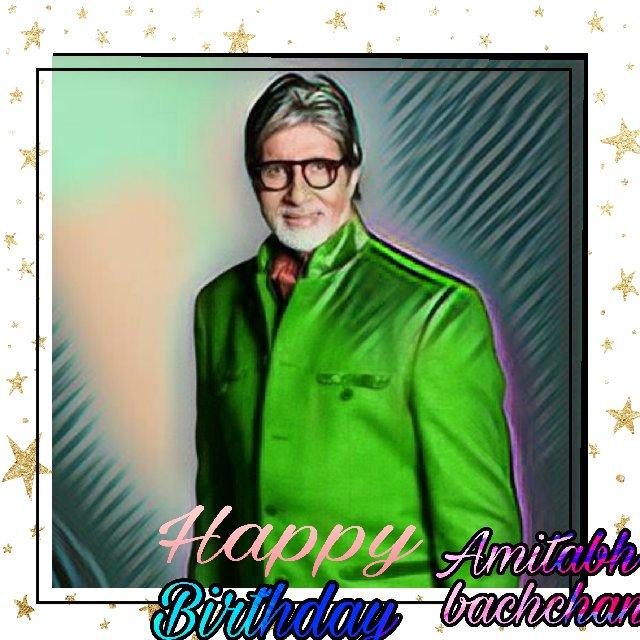 Happy birthday dear amitabh bachchan