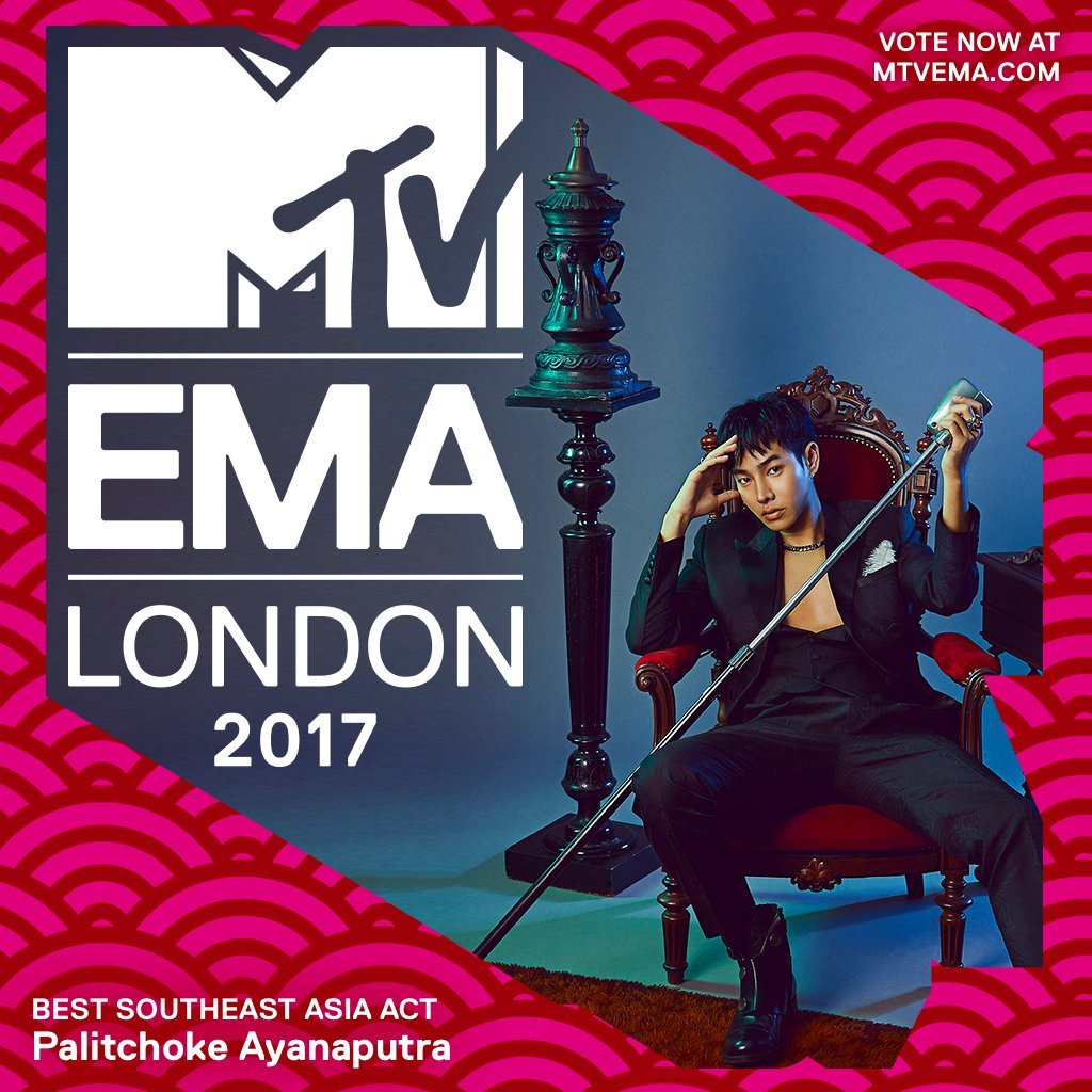 .@peckpalit fans show em' what you guys are made of, vote now at https://t.co/xDV4f9EI9X if you think he should win @mtvema Best SEA Act #MTVEMA 🎉