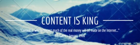 """#DidYouKnow : """"Content is king."""" Bill Gates made this prediction in 1996 and it's as true as ever today. #ContentMarketing #OnPage #Adwords<br>http://pic.twitter.com/lZNwhWjzGc"""