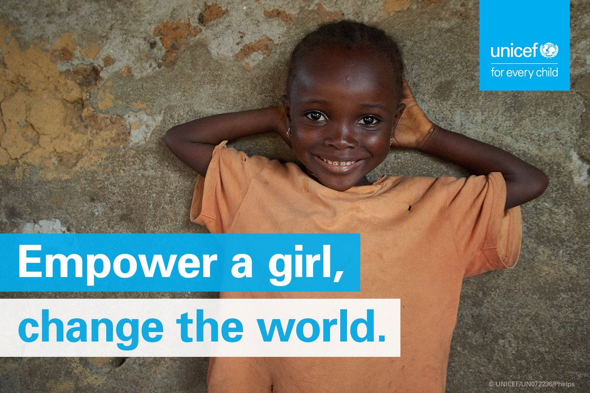 It's #DayoftheGirl 👧👧🏿👧🏼👧🏽  By tackling issues girls face, especially in conflict & disaster, we can help every girl achieve her dreams.
