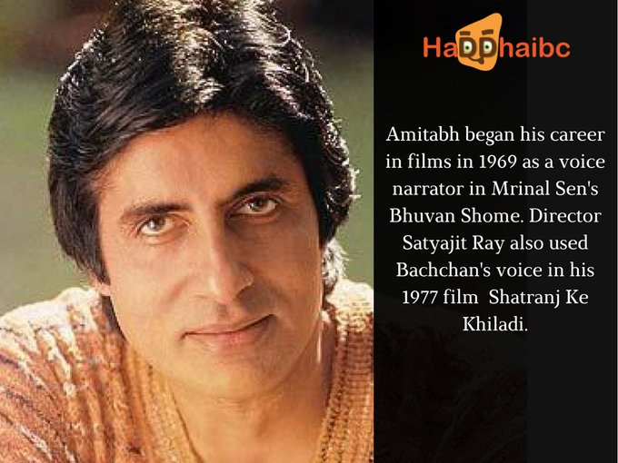Happy Birthday Amitabh Bachchan, The Mahanayak Of Indian Cinema.