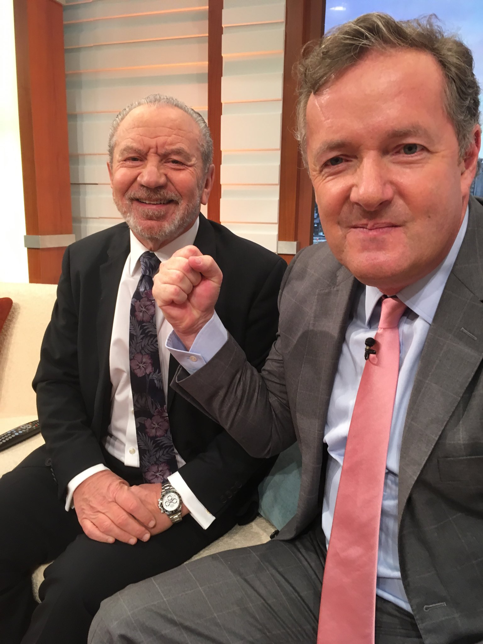 They actually like each other. @gmb #SugarvsMorgan https://t.co/wcQLv1rIJY