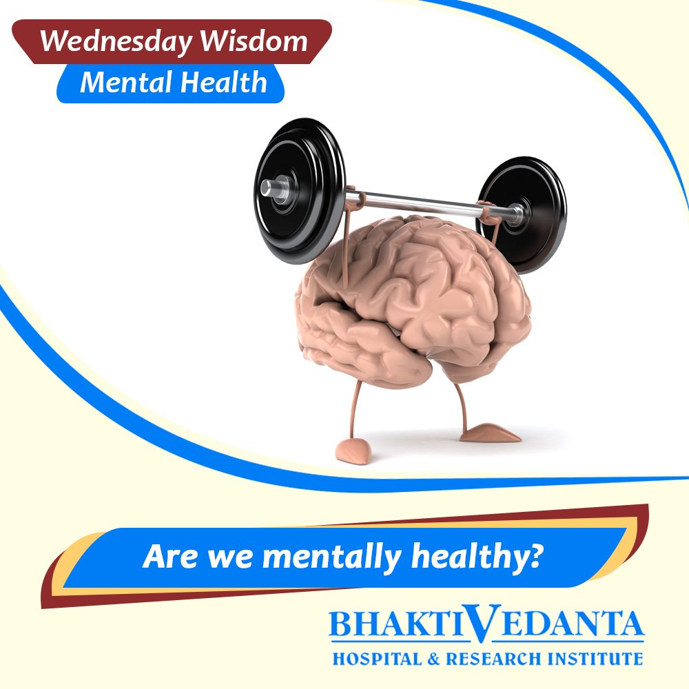 #WednesdayWisdom #MentalHealth 'Are we mentally healthy?' by Dt. Vaidehi Nawathe, Chief Dietician #StayHappyStayfit!  https:// goo.gl/WPj35m  &nbsp;  <br>http://pic.twitter.com/venEOerWMA