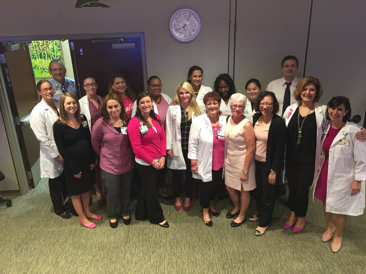 Members of LCI breast team supporting breast cancer awareness! #LCIbreast @DrJulieFisher  @DrAmyVoci @sarma4deba  #bcsm @Carolinas #LCI <br>http://pic.twitter.com/8nnNU8iBQn