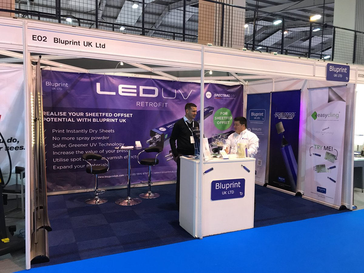 Learn about #LEDUV at @BluprintUK's stand at #ThePrintShow!