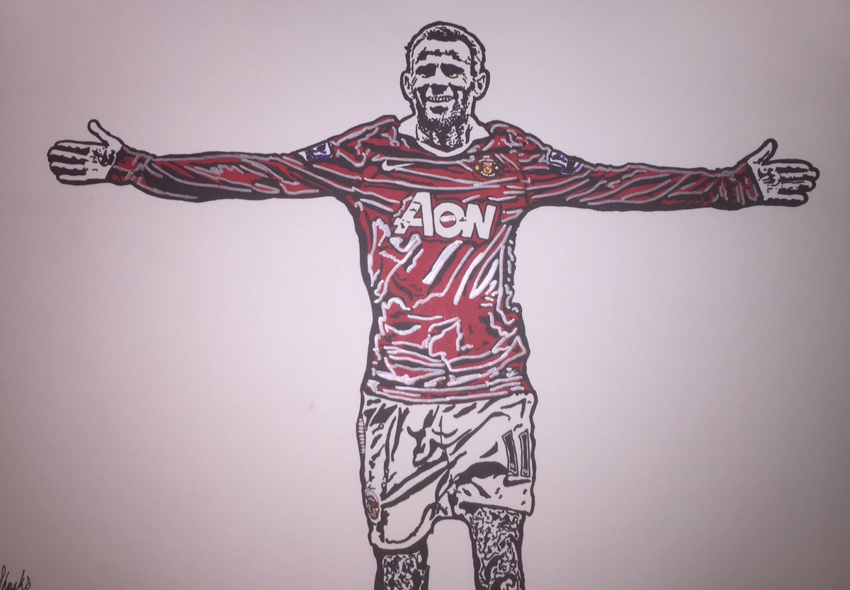 Charlieshanksart On Twitter A3 Sized Sharpie Pen Drawing Of Manchester United Wales Legend Ryan Giggs 11 Winger Manchesterunited Giggsy Https T Co 1swjh9wq93