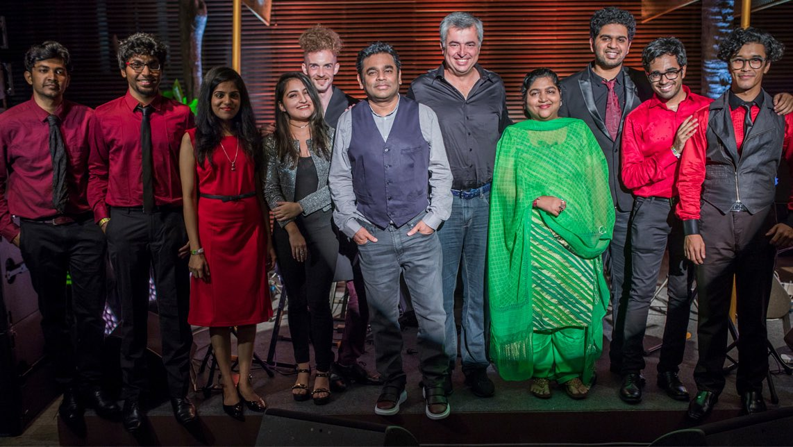 Great to be in Mumbai w/ @KMMC_Chennai. Proud to be supporting @arrahman & investing in the futures of these talented musicians & students.
