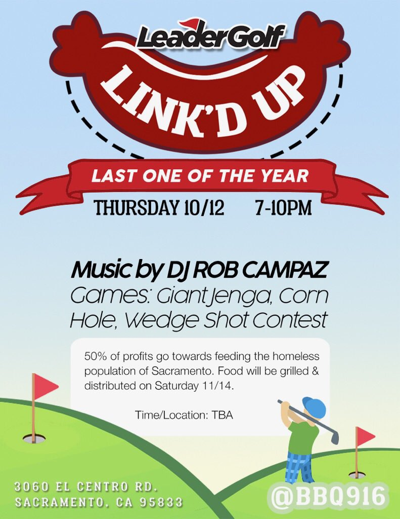 #sacramento Come out &amp; bring the #family #Thursday for a good cause #feed the #homeless | #sactown #doco #roseville #golf #dj #sacfoodie<br>http://pic.twitter.com/3s2yHm5KJj