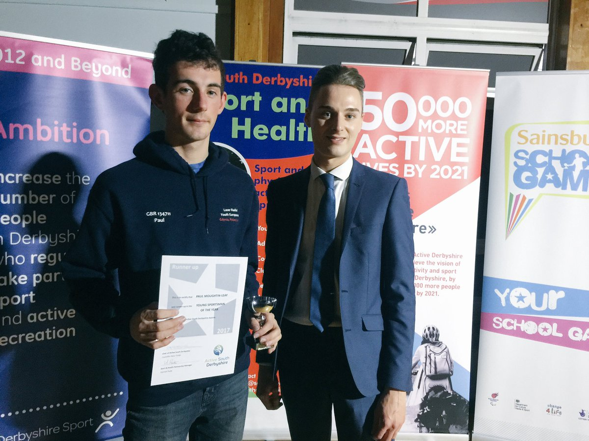 Runner up for Young #sportsman of the year goes to... Paul Moughtin-Leay  #SouthDerbyshire<br>http://pic.twitter.com/AhvKDue6ja