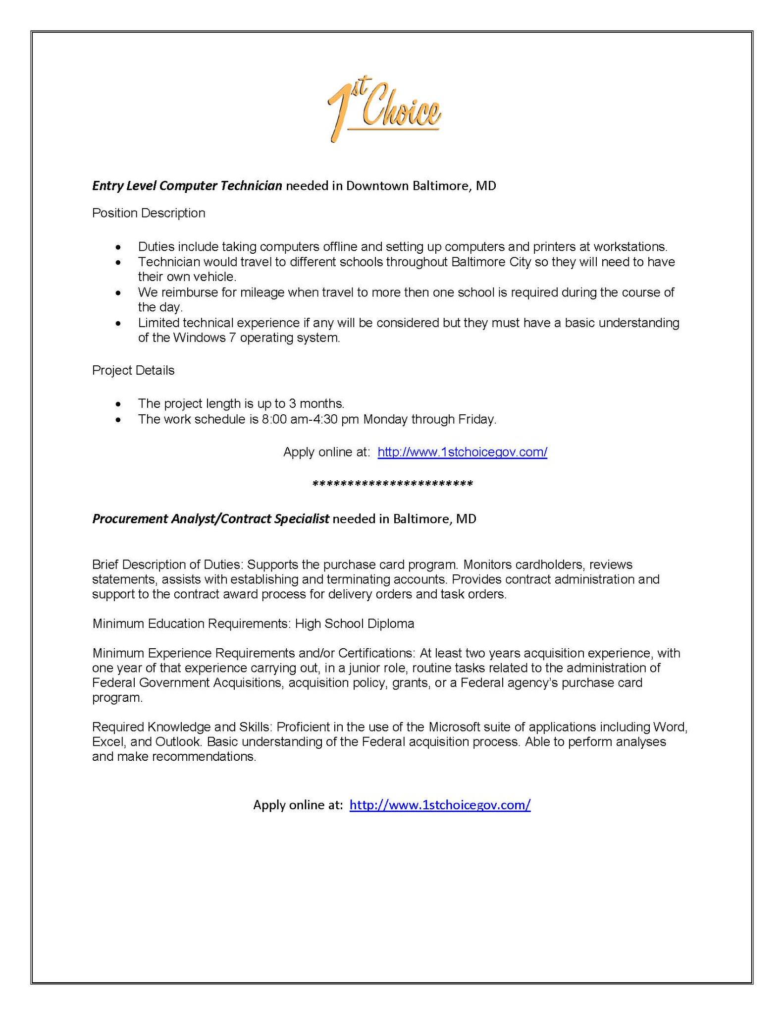 purchasing analyst job description