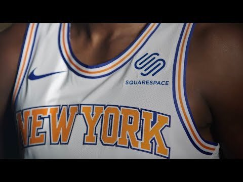 Los New York Knicks cerraron acuerdo con Squarespace para su camiseta