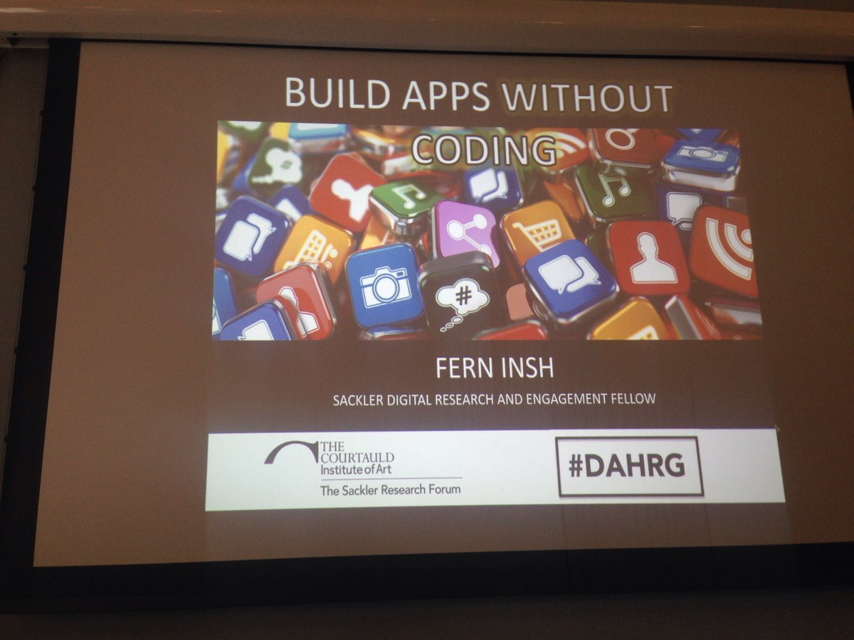 RT @PaulMellonCentr: Digital magic with Dr Dern Insh @insh_f. #DAHPP makings apps without coding workshop. #DAHRG https://t.co/iBp2muDfs0
